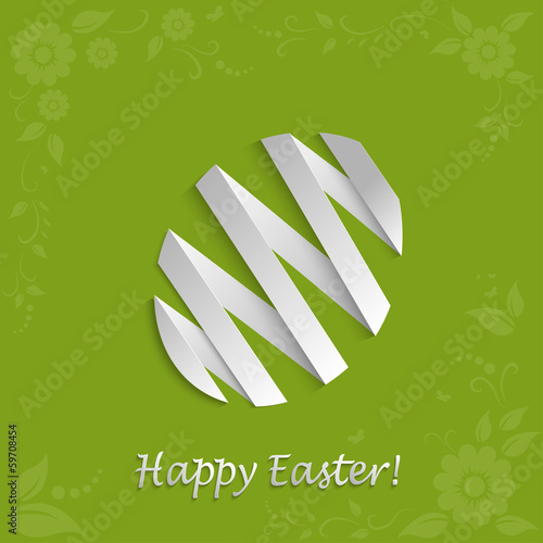 Vector Easter egg on a light green background
