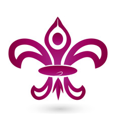 Fleur De Lis, and yoga meditation logo