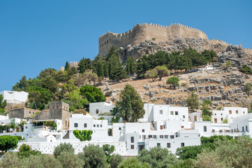 Lindos acropolis Greece