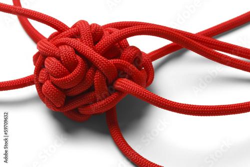 Leinwanddruck Bild Knot Tangle