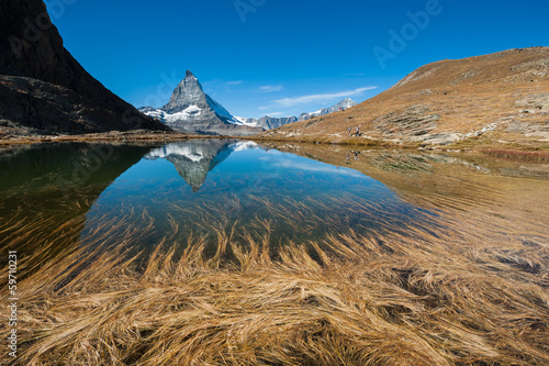Matterhorn Reflection in Riffelsee Lake, Switzerland