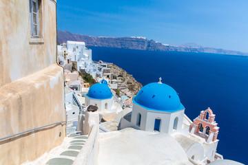 The most famous church on Santorini Island,Crete, Greece