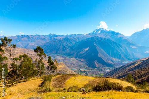 Peru, Ollantaytambo-Inca ruins of Sacred Valley in Andes
