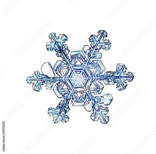 natural crystal snowflake macro - 59712431