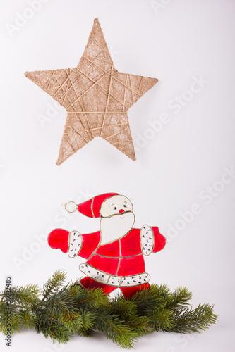 Weihnachtsmann mit Weihnachsstern