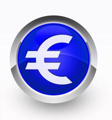 Knopf blau Euro