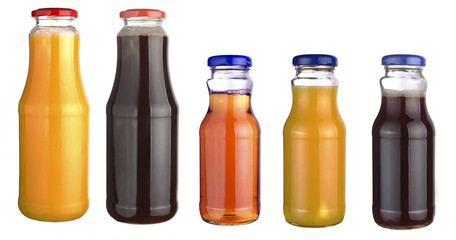 set of bottles of juice