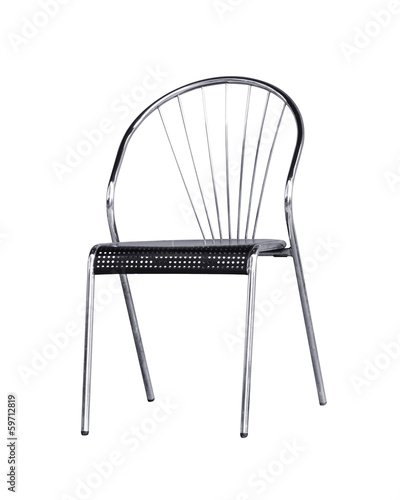 Steel chair isolated