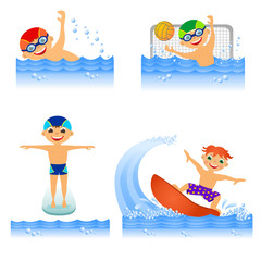 Set of water sport