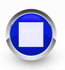 Knopf blau Stop