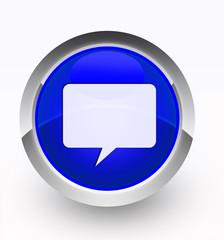 Knopf blau Talk