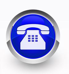 Knopf blau Telefon