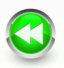 Knopf grün Bandrückzug