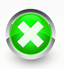 Knopf grün Kreuz