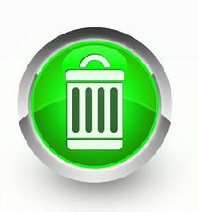 Knopf grün Lupe Papierkorb
