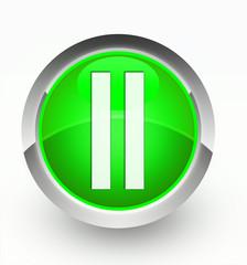 Knopf grün Pause