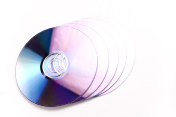 dvd disc isolated on white