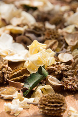 close up of potpourri,dry flowers