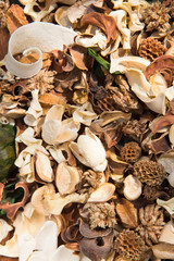 potpourri,dry flowers background texture