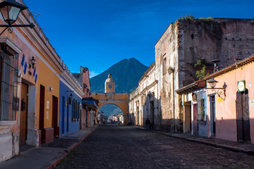 St Catarina arc and volcano Antigua Guatemala