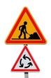 Signalisation de travaux sur un rond-point