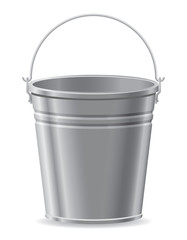 metal bucket vector illustration