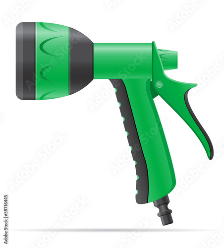 garden watering gun vector illustration