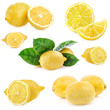 Collections of Fresh lemon, Isolated on white