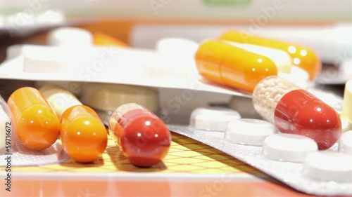 pills macro shot on slider