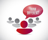 team work with think different message. poster