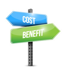 cost benefit sign