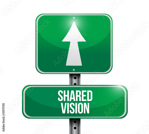 shared vision road sign