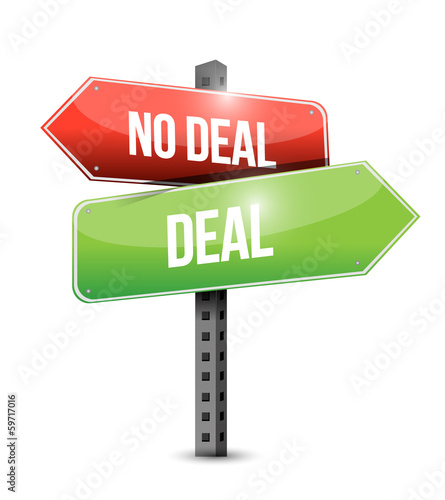 deal, no deal sign