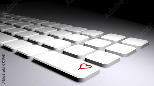 Keyboard with heart