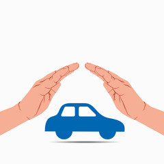 secure your car or insurance concept vector