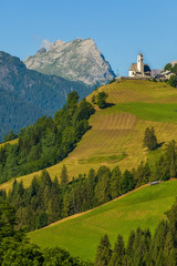 Mountain landscape and the Christian Church