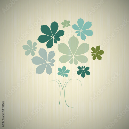 Abstract Vector Tree with Chestnut Leaves