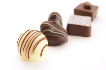 4個並んだチョコレート