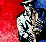 Fototapety Saxophone player