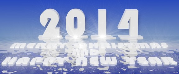 2014 new year 3d