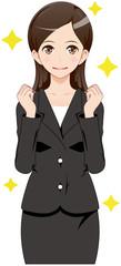 女性 スーツ 期待