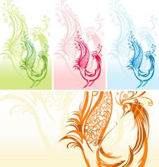 Fantastic bird. Four color options.
