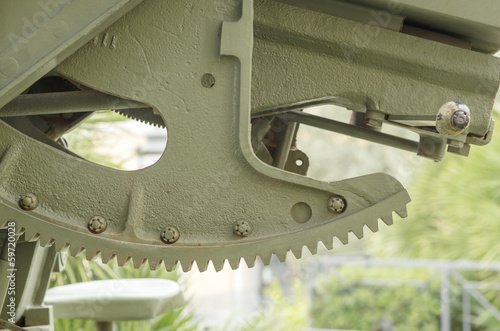 CANNON 90/53 MOD. 41- ITALIAN ARTILLERY WORLD WAR II: DETAIL OF