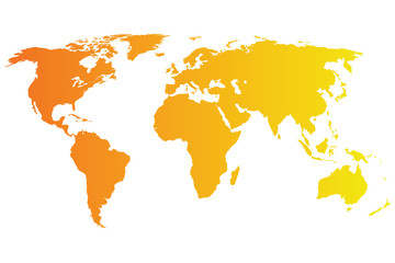 World Map Vector orange gradient
