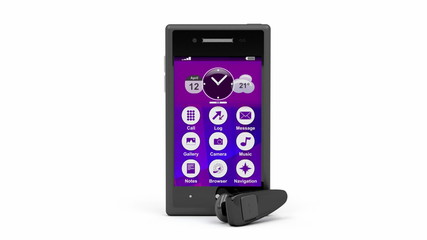 Smartphone and wireless handsfree device