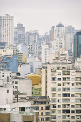 Urban Scene Sao Paulo Brazil Cityscape Skyline Vertical