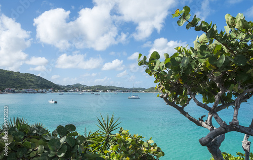 View of Grand Case Saint Martin