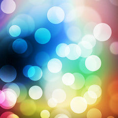 a texture, abstract background is colorful bokeh light from sun