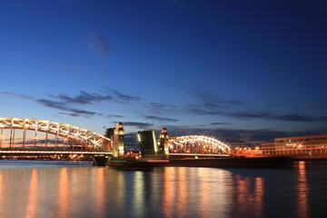 Bolsheokhtinsky Bridge, St. Petersburg, Russia