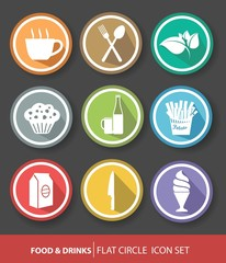 Food buttons,Colorful version
